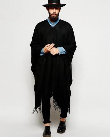 Fashion Shop - ASOS Black Poncho - Black