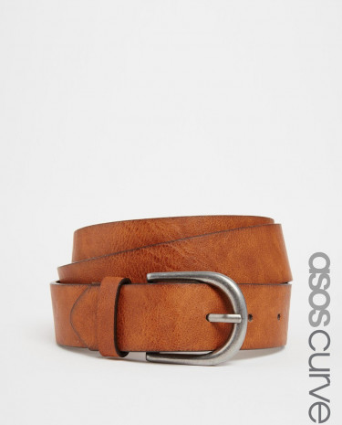 Fashion Shop - ASOS CURVE Vintage Tan Jeans Belt - Tan