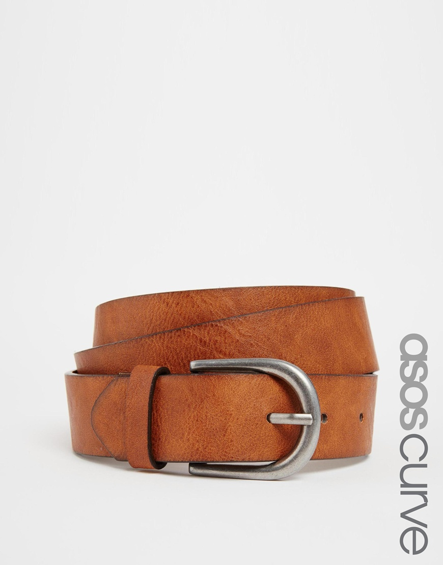 Fashion Shop - ASOS CURVE Vintage Tan Jeans Belt - Tan