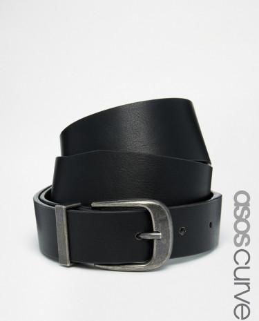 Fashion Shop - ASOS CURVE Waist & Hip Belt With Pug Tipped Detail - Black