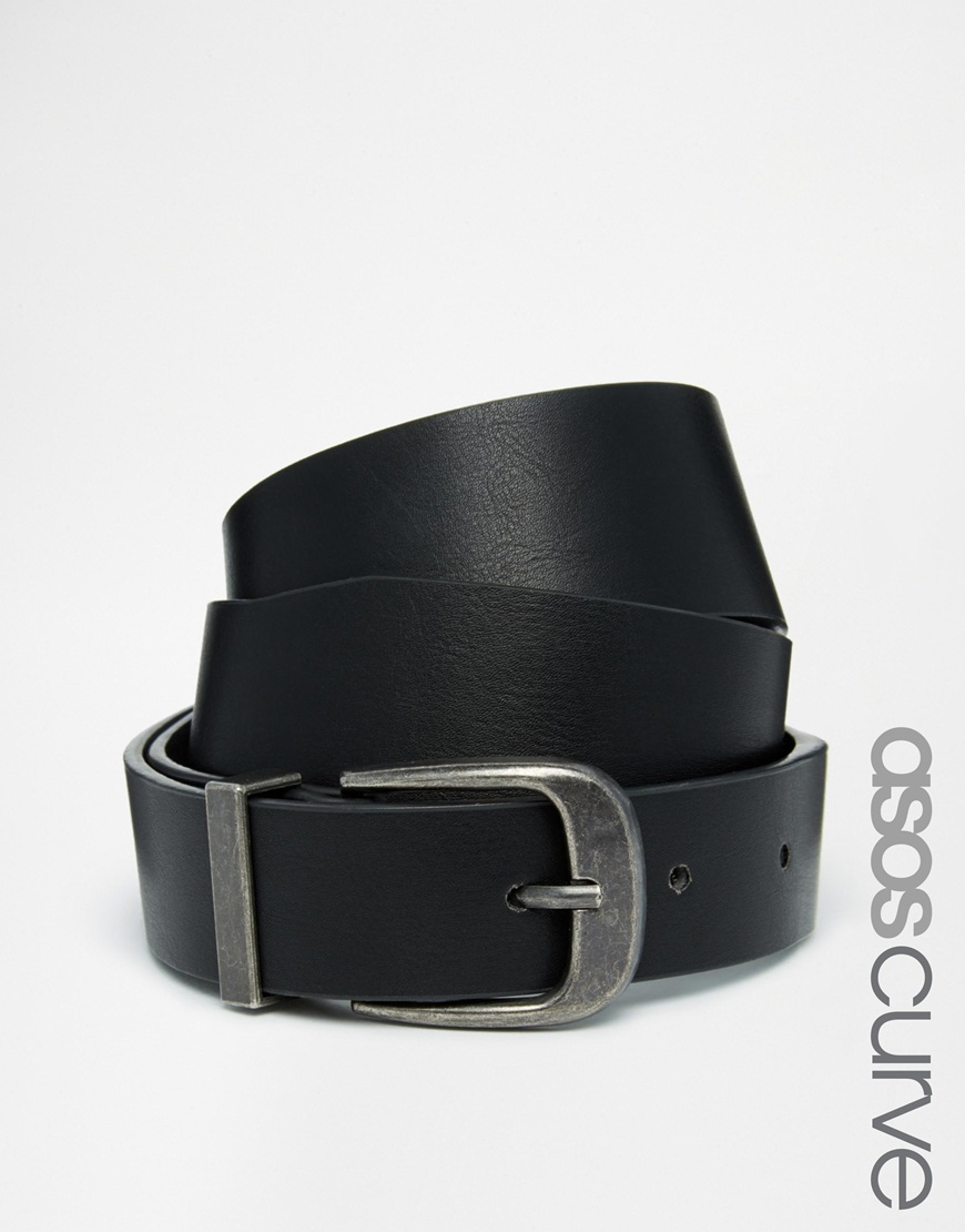 Fashion Shop - ASOS CURVE Waist & Hip Belt With Pug Tipped Detail - Black