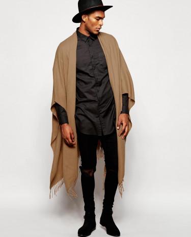 Fashion Shop - ASOS Camel Woven Cape - Beige