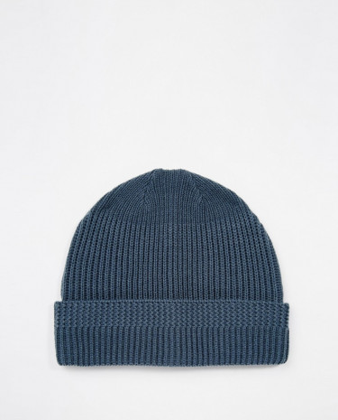 Fashion Shop - ASOS Fisherman Beanie in Blue with Stitch Detail - Blue