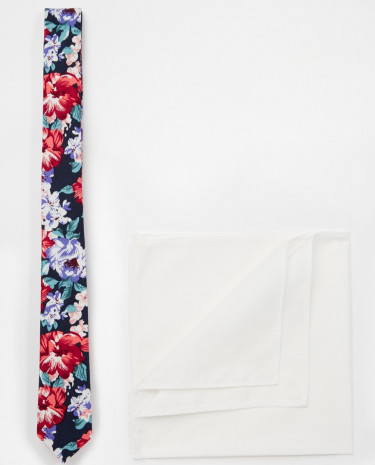 Fashion Shop - ASOS Floral Tie and Pocket Square Pack - Pink