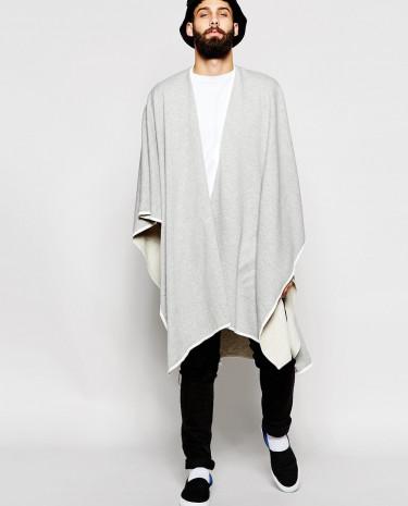 Fashion Shop - ASOS Jersey Cape In Grey - Grey