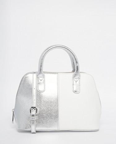 Fashion Shop - ASOS Mini Kettle Tote Bag - Whitesilver