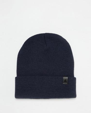 Fashion Shop - ASOS Navy Patch Beanie - Blue