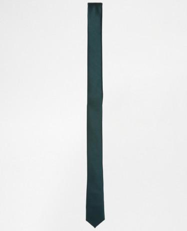 Fashion Shop - ASOS Skinny Tie - Forestgreen