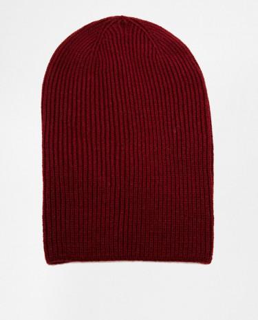 Fashion Shop - ASOS Slouchy Beanie Hat - Burgundy