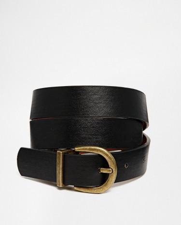 Fashion Shop - ASOS Vintage Look Reversible Buckle Detail Waist And Hip Belt - Tanblack
