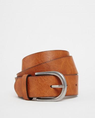 Fashion Shop - ASOS Vintage Tan Jeans Belt - Tan