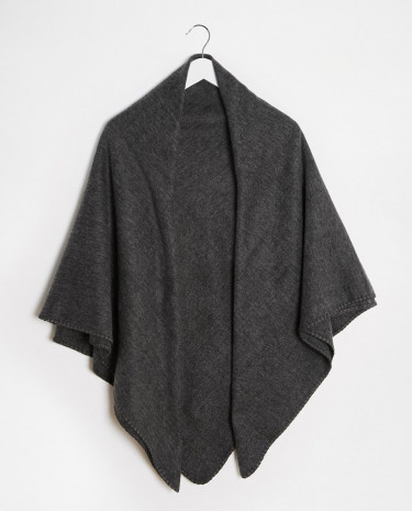 Fashion Shop - ASOS Wide Square Blanket Scarf In Grey - Charcoal