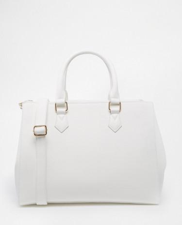 Fashion Shop - ASOS Zip Top Tote Bag - White