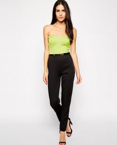 Fashion Shop - AX Paris Bandeau Jumpsuit - Blacklime