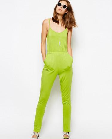 Fashion Shop - AX Paris Cami Jumpsuit - Lime