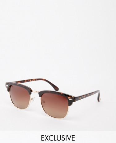 Fashion Shop - D-Struct Retro Sunglasses - Brown