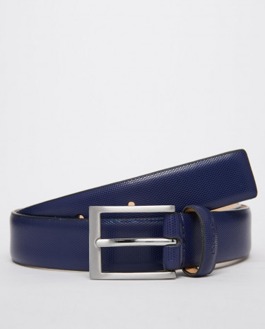 Fashion Shop - DKNY Smart Leather Belt - Blue