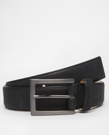 Fashion Shop - DKNY Smart Leather Belt In suede - Brown