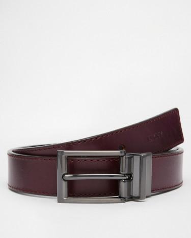 Fashion Shop - DKNY Smart Reversible Leather Belt - Purple