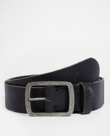 Fashion Shop - Dickies Eagle Lake Leather Belt - Black