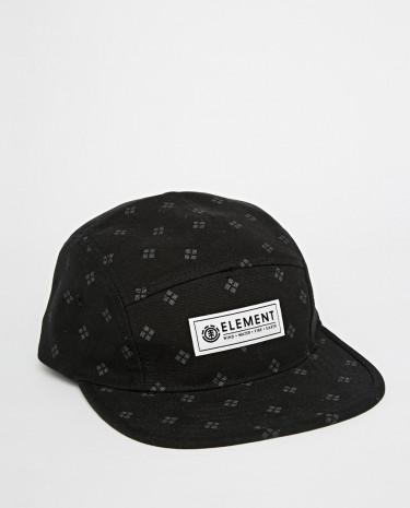 Fashion Shop - Element Diamond 5 Panel Cap - Black