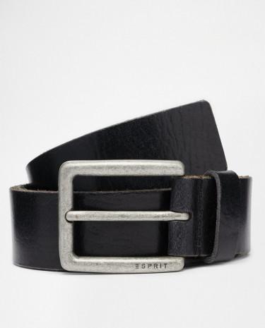 Fashion Shop - Esprit Leather Belt - Black