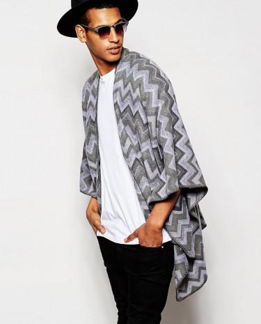 Fashion Shop - Gregory's Geo Cape - Grey