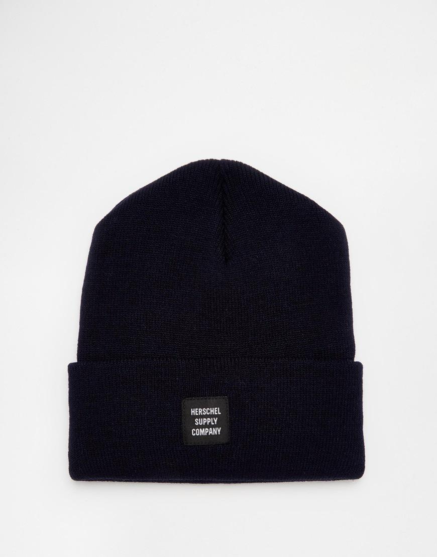 3f7823104f4 Fashion Shop Herschel Abbott Beanie Hat - Navy Fashion Shop