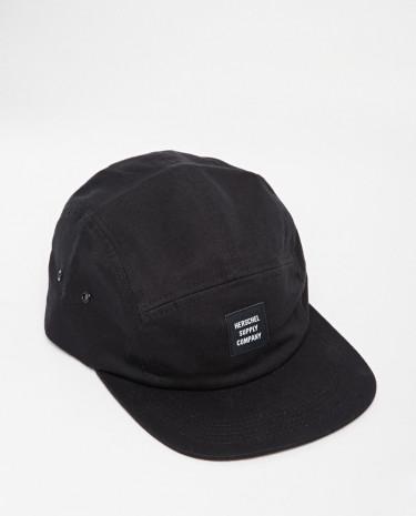 Fashion Shop - Herschel Glendale 5 Panel Cap - Black