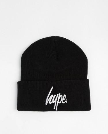 Fashion Shop - Hype Script Beanie Hat - Black