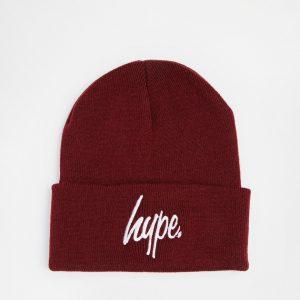 Fashion Shop - Hype Script Beanie Hat - Burgundy