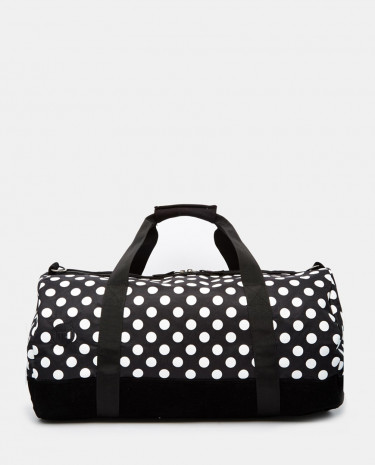 Fashion Shop - Mi-Pac Duffle Back in Big Spot - Blackwhite