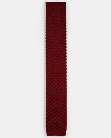 Fashion Shop - Noose & Monkey Knitted Tie - Red