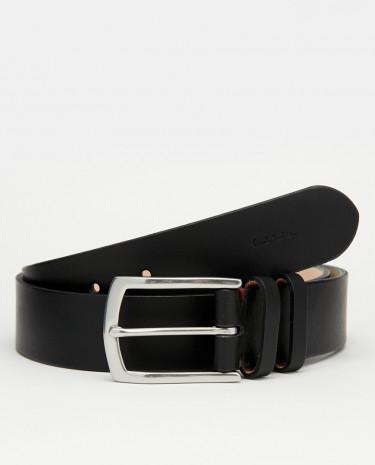 Fashion Shop - Paul Smith Double Keeper Leather Belt - Black