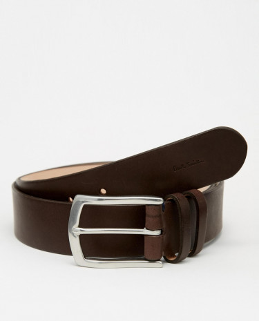Fashion Shop - Paul Smith Double Keeper Leather Belt - Brown