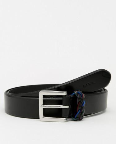 Fashion Shop - Paul Smith Saddle Leather Belt - Black