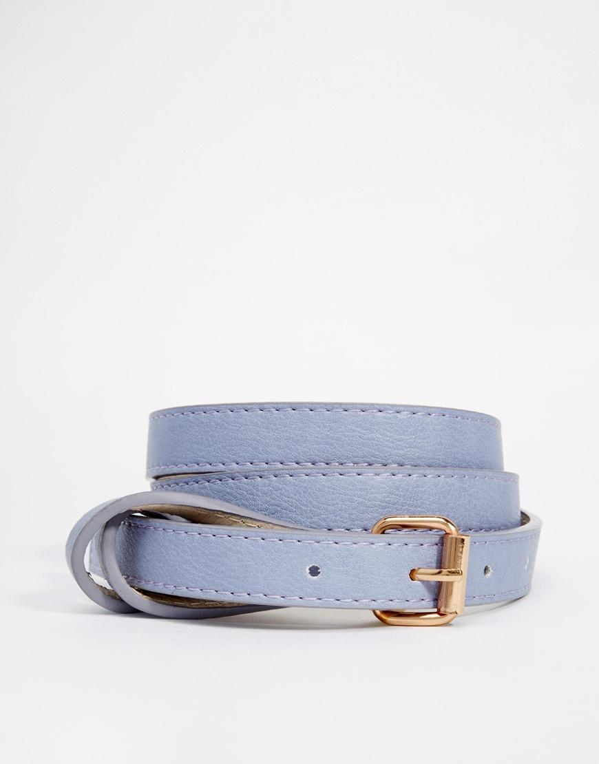 Fashion Shop - Pieces Nala Slim Jeans Belt - Purple