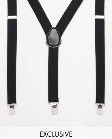 Fashion Shop - Reclaimed Vintage Braces - Black