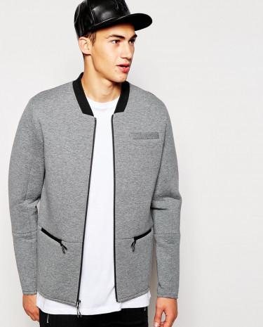 Fashion Shop - 2xH Brothers Neoprene Jacket - Grey