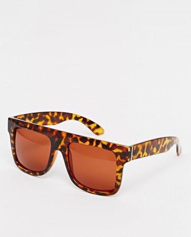 Fashion Shop - AJ Morgan Wayfarer Sunglasses - Tort