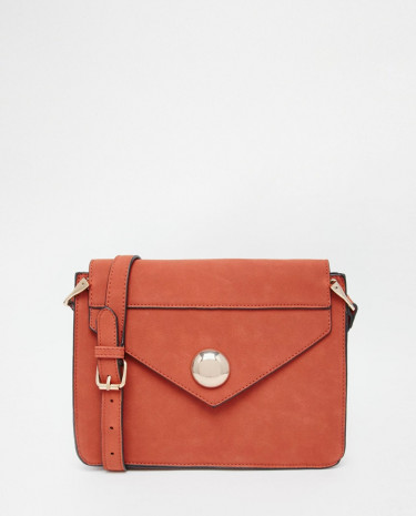Fashion Shop - ASOS 70s Cross Body Bag With Dome Fitting - Rustred