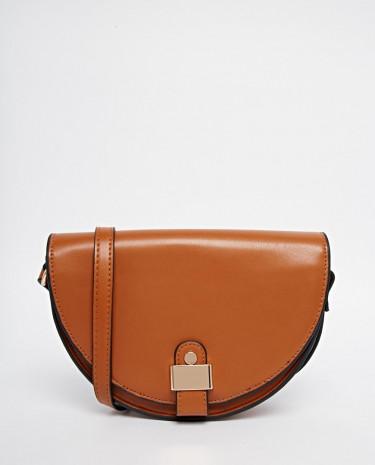 Fashion Shop - ASOS 70s Saddle Cross Body Bag - Tan