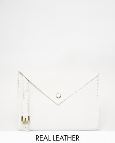 Fashion Shop - ASOS Clean Leather Cross Body Bag - White