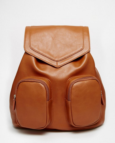 Fashion Shop - ASOS Front Pocket Backpack - Tan