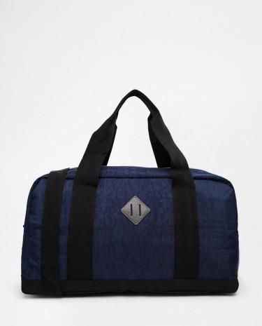Fashion Shop - ASOS Holdall In Washed Blue Nylon - Blue