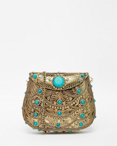 Fashion Shop - ASOS Metal Box Cross Body Bag - Multi