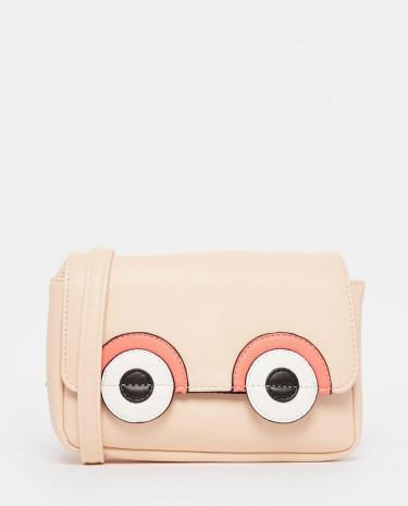 Fashion Shop - ASOS Novelty Big Eyes Cross Body Bag - Multi