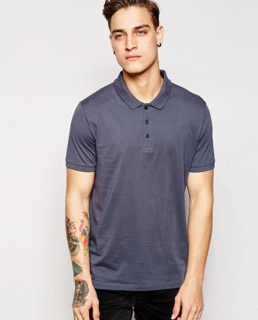Fashion Shop - ASOS Polo Shirt In Jersey - Navy