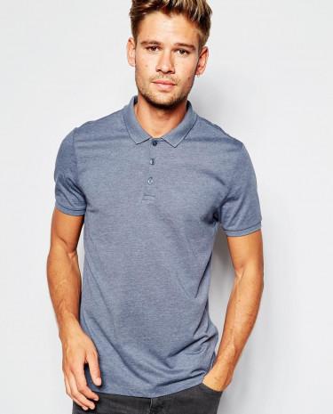 Fashion Shop - ASOS Polo Shirt in Jersey - Navymarl
