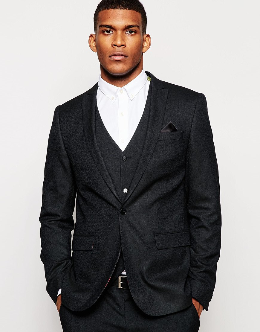 Fashion Shop - ASOS Skinny Fit Suit Jacket In Navy - Navy
